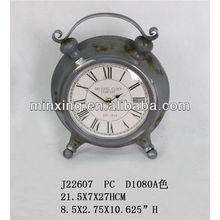 2013 antique metal decorative desk clock