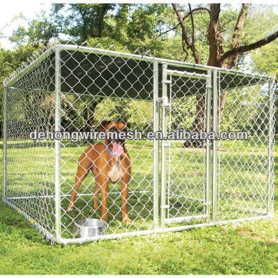 6*6 outdoor iron chain link steel wire mesh panel dog house/cage/kennel