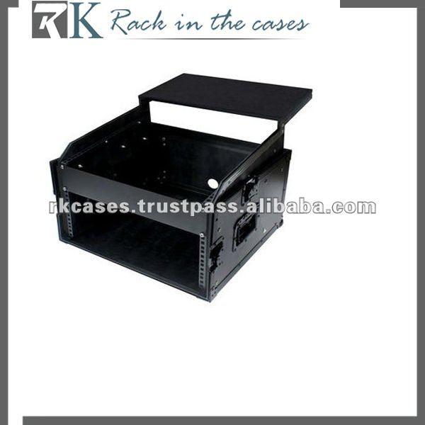 19 Quot 10u X 4u Slanted Mixer Rack Flight Case With Laptop