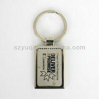 unusual metal custom printed keyrings