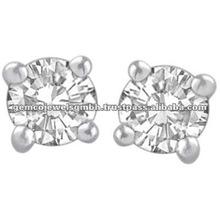 Stud Jewelry Diamond Earrings, White Gold Stud Earrings, Diamond Gold Earrings Jewelry
