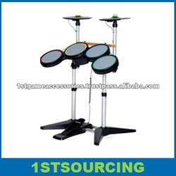 Electronic drum set for Game PS2/PS3/WII, with double cymbal
