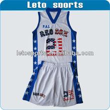 sublimation basketball uniform custom reversible basketball uniform
