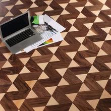 Wave patterned wood parquet flooring/Wood tile