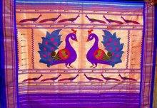 big peacock jodi paithani sarees