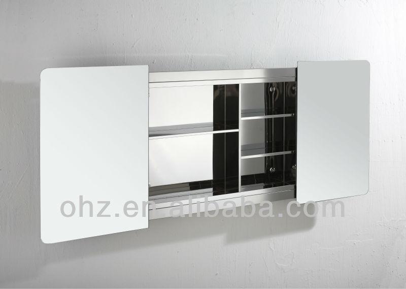 Moderne mur monté porte coulissante armoire de toilette