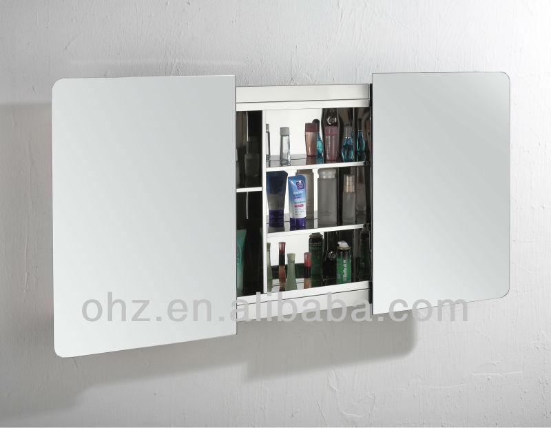 Modern Wall Mounted Sliding Door Bathroom Cabinet Mirror Cabinet View