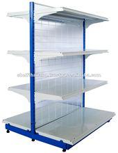Double Sided Light Duty Metal Supermarket Gondola Shelf