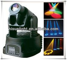 Mini Spot Light, Gobo Light, 15W LED Moving Head Spot Lightfor Stage Show/ Party