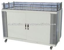 Supermarket Horizontal Folding Steel Metal Wagon Promotion Shelf