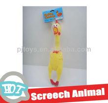 (40CM) soft plastic chicken with shrill cry animal toy vivyl toy