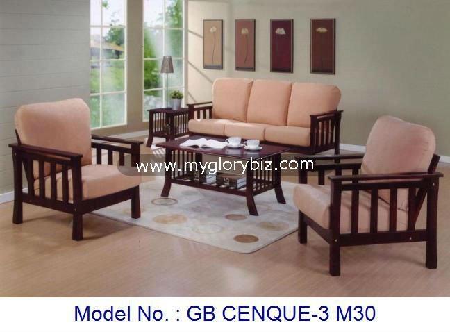 Brazo de madera silla conjunto de sof s muebles de for Salas de madera modernas