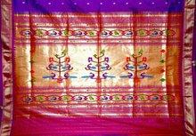 Brocket pecock paithani sarees