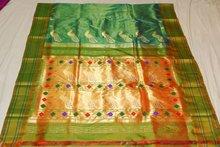 Half tissue paithani sarees