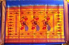 Peacock + parrot paithani sarees