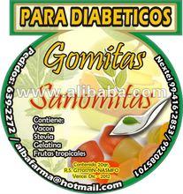 "Diabetics Gums ""SANOMITAS"" Yacon - Stevia"