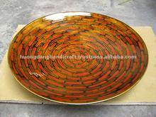 Round Lacquer Dish