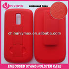 embossed case for Huawei speed U8667 flip leather case