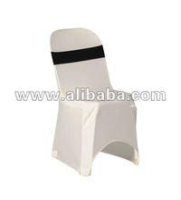 White spandex plastic chair cover