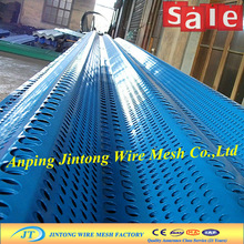 blue painted metal perforated sheets/puching hole net 20years factory
