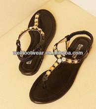 DR521 Hot sale 2013 Comfortable Newest lady beautiful flat sandal