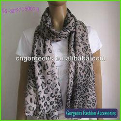 Wholesale ladies leopard shawl