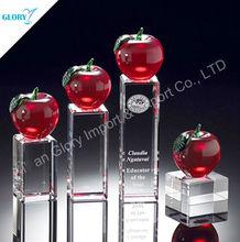 Wholesale Apple Crystal Desk Decoration