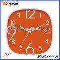 Custom made relógio de parede/cristal de relógio de parede/relógios para venda