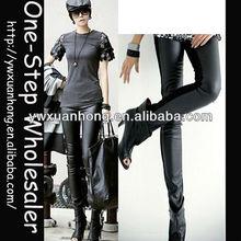 fashion leather leggings sex spandex,lace patched sexy spandex leggings,sex ladies leather leggings
