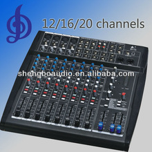12/16/16 channel professional audio mixer console with 2 SUB outputs