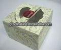 decoração do casamento de papel caixa de bolo