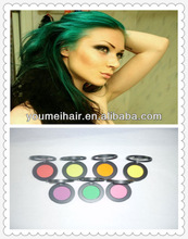 fashion hair dying hair chalk colored chalk powder