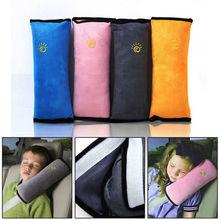 Cotton Velvet Car Safety Seat Belt Shoulder Pad Pillow for Children,Grey