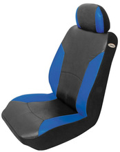 Razor Black/Blue Seat Air Bag Safe Low Back Seat Cover