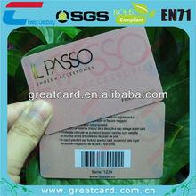 39/128/13 barcode card laminated finish