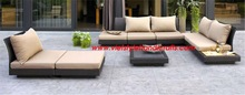 Flat poly rattan sofa set for outdoor/indoor 2012