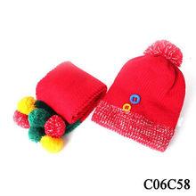 2013 Winter Fleece Earflap Knitted Baby Hat colorful fan hat