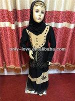 muslim small girl abayas,kids abayas, children islamic clothing MA016
