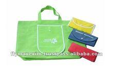custom reusable folding shopping bags