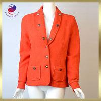 coat for women red 100% wool fashion winter coat