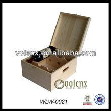 Unfinished Shenzhen Pualownia Wood Wine Box Wholesale