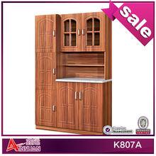 K807A modern style wooden tall kitchen cupboard