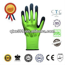 QL Best 13g nylon frosted nitrile work gloves nitrile garden gloves