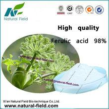 Bulk supplying natural ferulic acid 98, Cas No.:1135-24-6