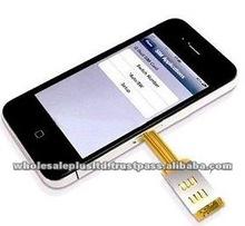 Dual Sim Adaptor Plus Protective Case for Iphone4