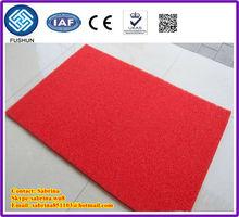 hard backing diamond backing pvc coil mat/rug/carpet