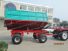 Tractor Hydraulic side and rear dumping trailer