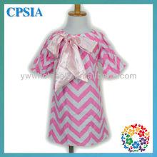 2013 New Arrival Fashion Girls Wholesale Chevron Baby Dress