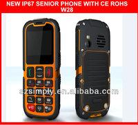 IP67 hot sale chino telefono celular SOS button .GPRS
