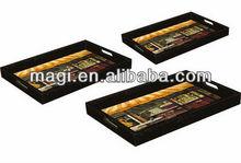 Shabby wooden photo serving tray